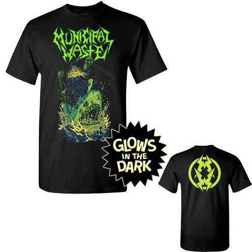 T-Shirt - Municipal Waste - Glow Shark