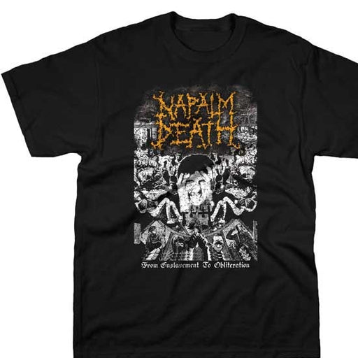 T-Shirt - Napalm Death - Enslavement to Obliteration-Metalomania
