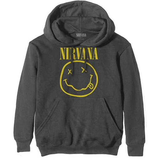 Hoodie - Nirvana / KC - Smiley - Grey Pullover