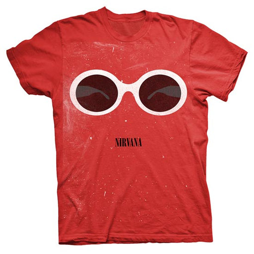 T-Shirt - Nirvana / KC - Sunglasses - Red