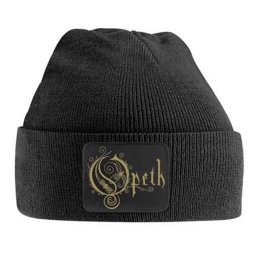 Beanie - Opeth - Gold Logo Patch-Metalomania