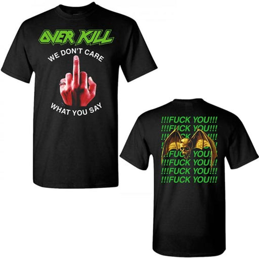 T-Shirt - Overkill - We Don't Care - Fuck You