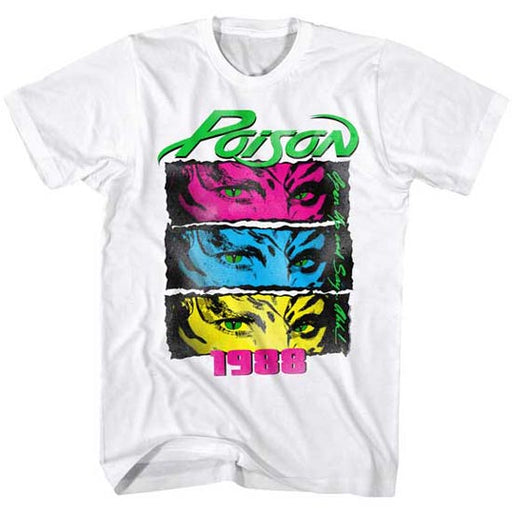T-Shirt - Poison - 1988 - White-Metalomania