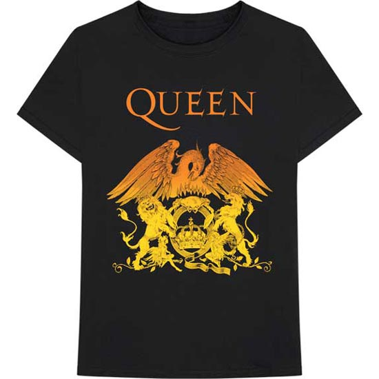 T-Shirt - Queen - Orange Crest Gradient-Metalomania