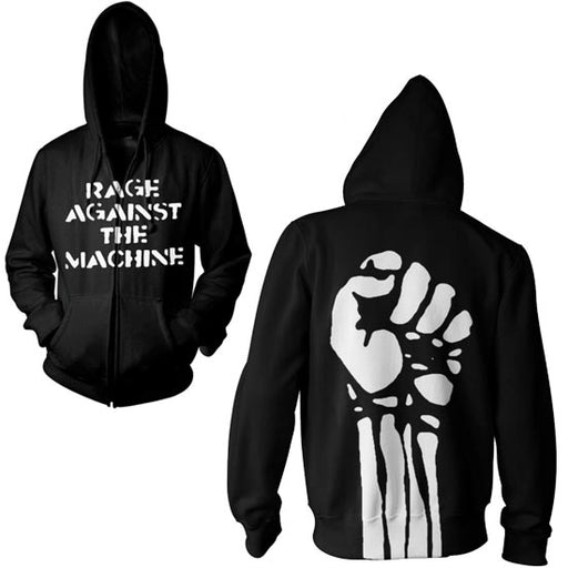 Hoodie - Rage Against the Machine - Jumbo Fist - Zip-Metalomania