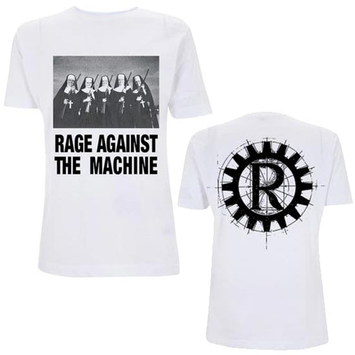 T-Shirt - Rage Against Machine - Nuns And Guns - White-Metalomania