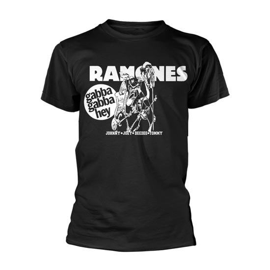 T-Shirt - Ramones - Gabba Gabba Hey Cartoon