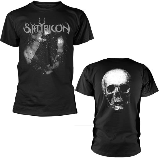 T-Shirt - Satyricon - Black Crow & Tombstone