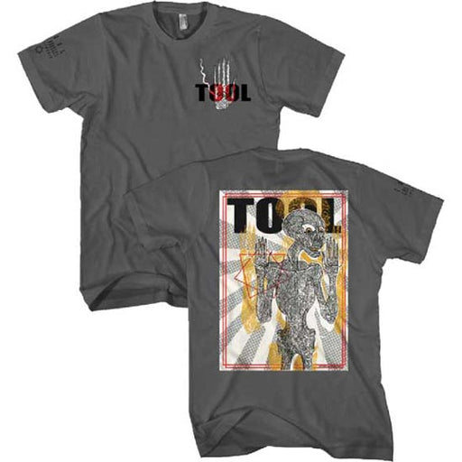 T-Shirt - Tool - Spectre Burst Skeleton - Grey-Metalomania