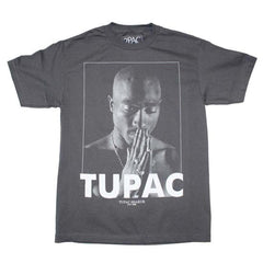 T-Shirt - Tupac - Praying - Grey Shirt