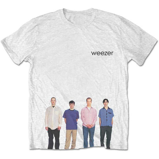 T-Shirt - Weezer - Blue Album - White-Metalomania
