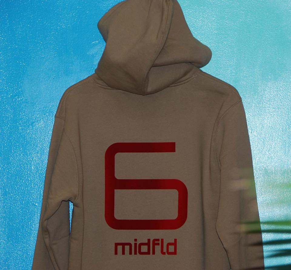 MIDFLD #6 Hoodie on Kicks to The Pitch