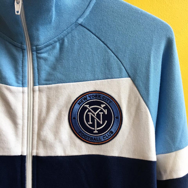 Mitchell & Ness NYCFC Color Blocked French Terry Jacket - The Village Soccer Shop