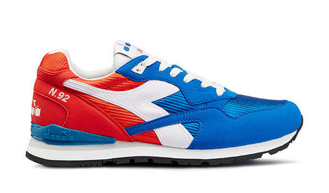 Diadora N-92 Sneakers - Poppy Red/Imperial Blue