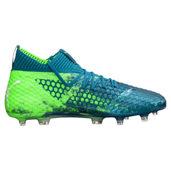 FUTURE 18.1 NETFIT FG/AG Soccer Boots - Deep Lagoon/White/Green - The Village Soccer Shop