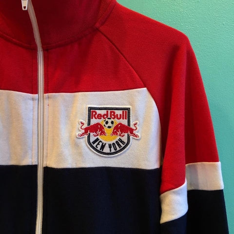 Mitchell & Ness New York Red Bulls Color Blocked French Terry Jacket