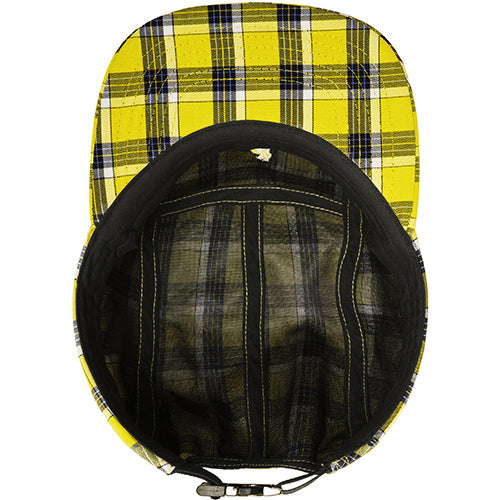 Kangol Summer Plaid 5-Panel Baseball Hat - Yellow Plaid