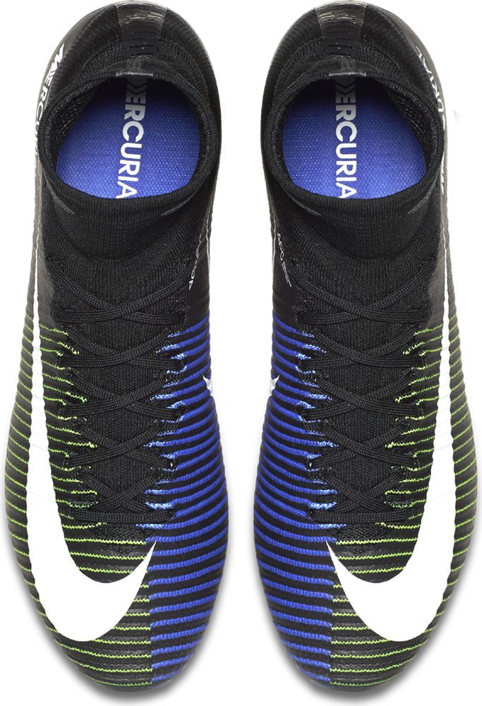 Nike Mercurial Superfly V FG Soccer Boots - Black/Electric Green