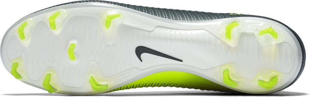 Nike Mercurial Veloce III Dynamic Fit CR7 FG Soccer Boots - Seaweed/Volt