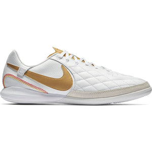 Nike Lunar LegendX 7 Pro 10R IC - Indoor Soccer Shoes - White/Metallic Gold