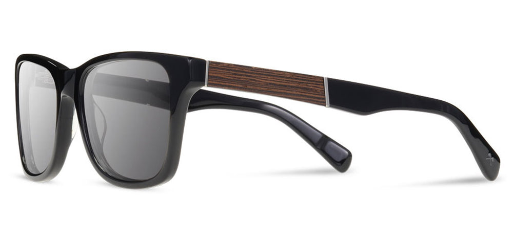 Shwood Canby XL Acetate Sunglasses - Black/Ebony - Grey Polarized