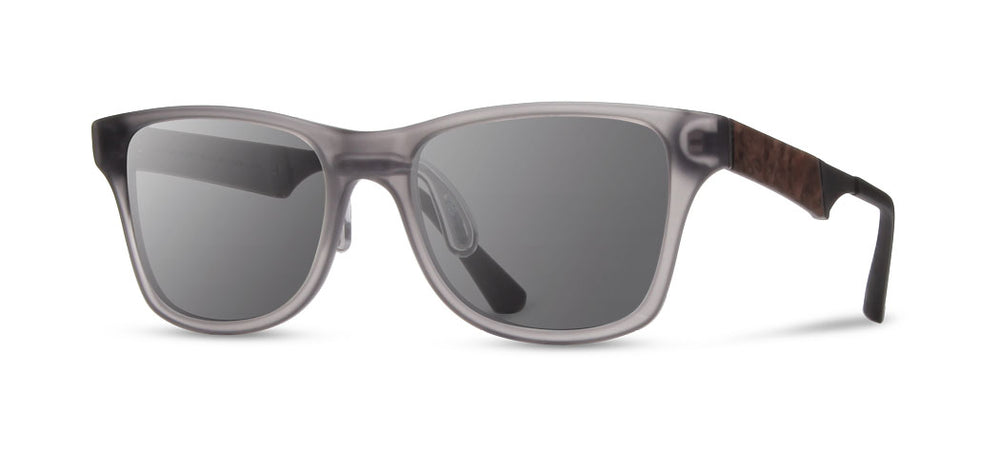 Shwood Canby ACTV Sunglasses - Matte Smoke - Grey Polarized