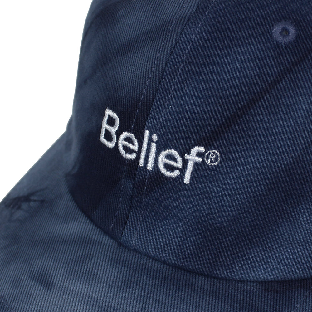 Belief NYC Tie Dye Logo 6 Panel - Navy