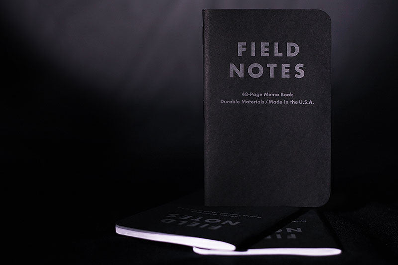 Field Notes Brand - Pitch Black 3-Pack