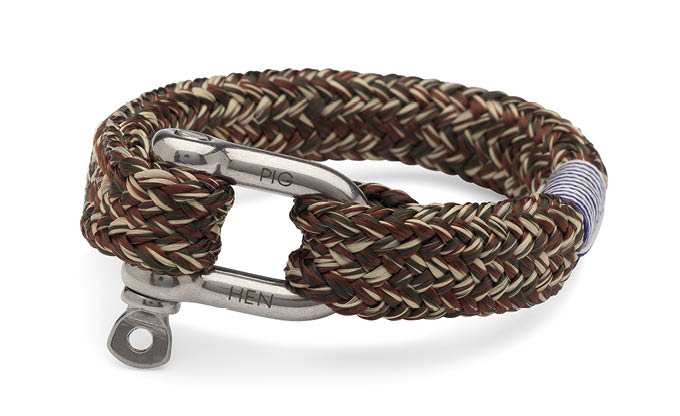 PIG & HEN -Fat Fred Rope Bracelet - Army/Brown/Sand