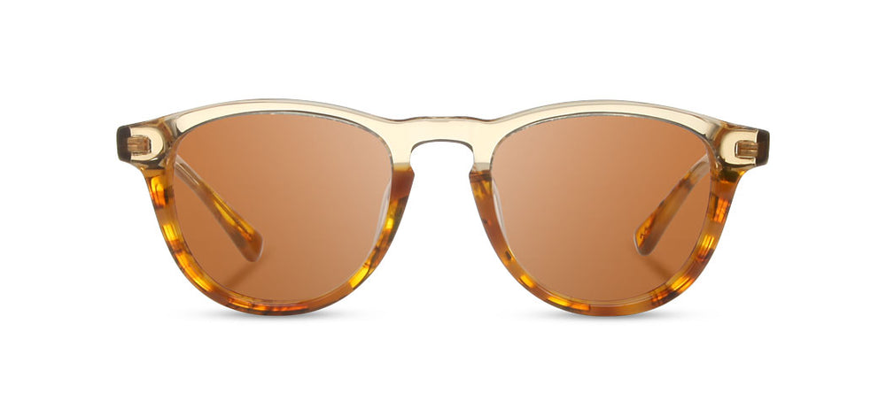 Shwood Francis Acetate Sunglasses - Canyon/Elm Burl/Brown