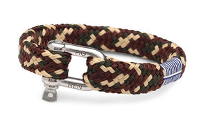 PIG & HEN - Gorgeous George Rope Bracelet - Army/Brown/Sand - Village Soccer Shop