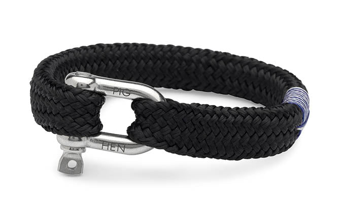 PIG & HEN - Gorgeous George Rope Bracelet - Black