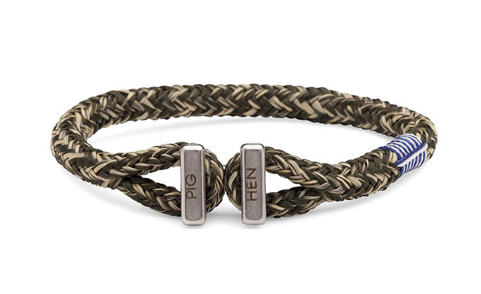 PIG & HEN - Icy Ike Rope Bracelet - Army/Sand