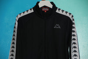 Kappa 222 Banda Anniston Jacket - Black/White - The Village Soccer Shop