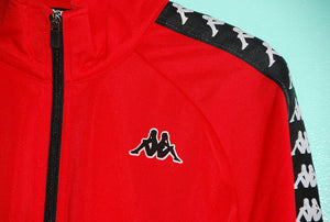 Kappa 222 Banda Anniston Jacket - Red/Black//White - The Village Soccer Shop
