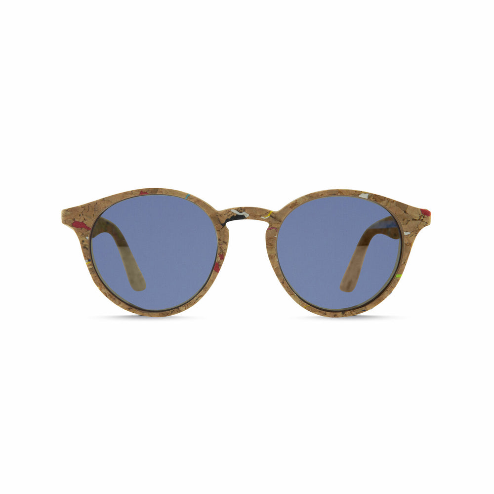 Parafina Laguna Sunglasses - Painted Cork/Parafina Blue