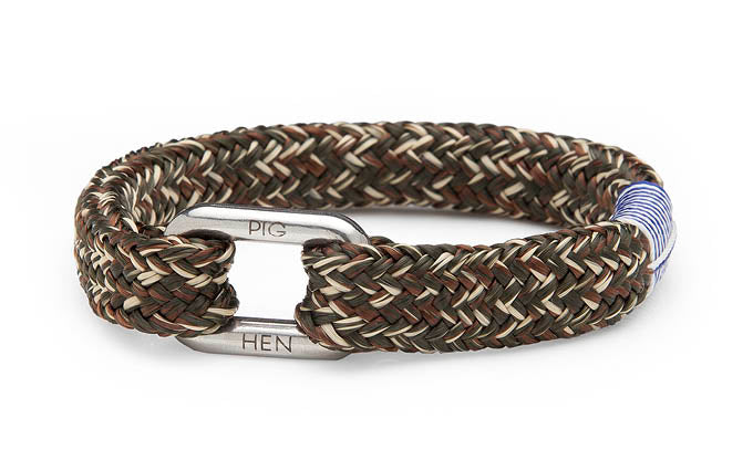 PIG & HEN - Limp Lee Rope Bracelet - Army/Brown/Sand