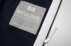 Weekend Offender Dufaux Reflective Zip Up - Navy