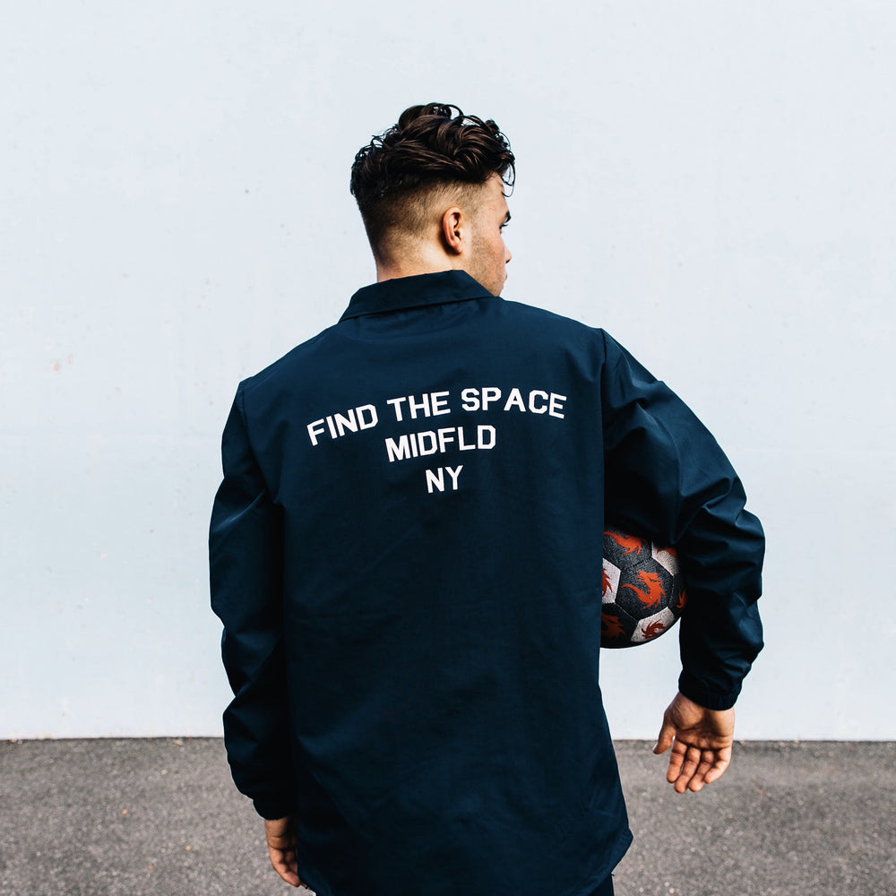 MIDFLD Enso Coaches Jacket - Navy Blue