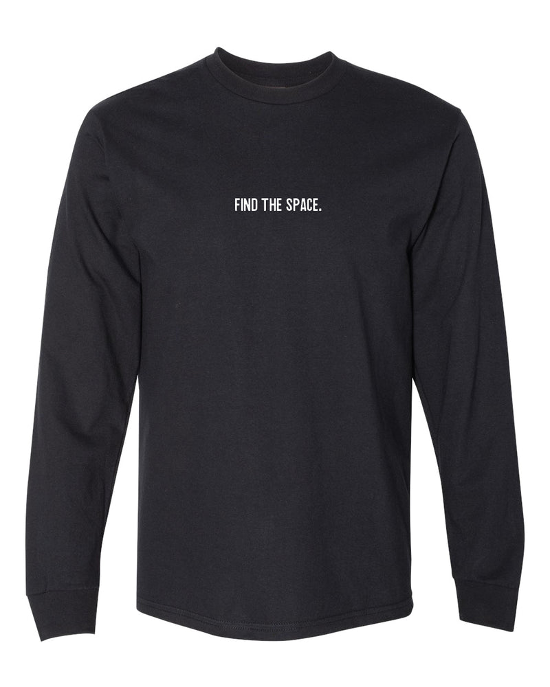 MIDFLD Find The Space & Unite Long Sleeve T-Shirt - Black