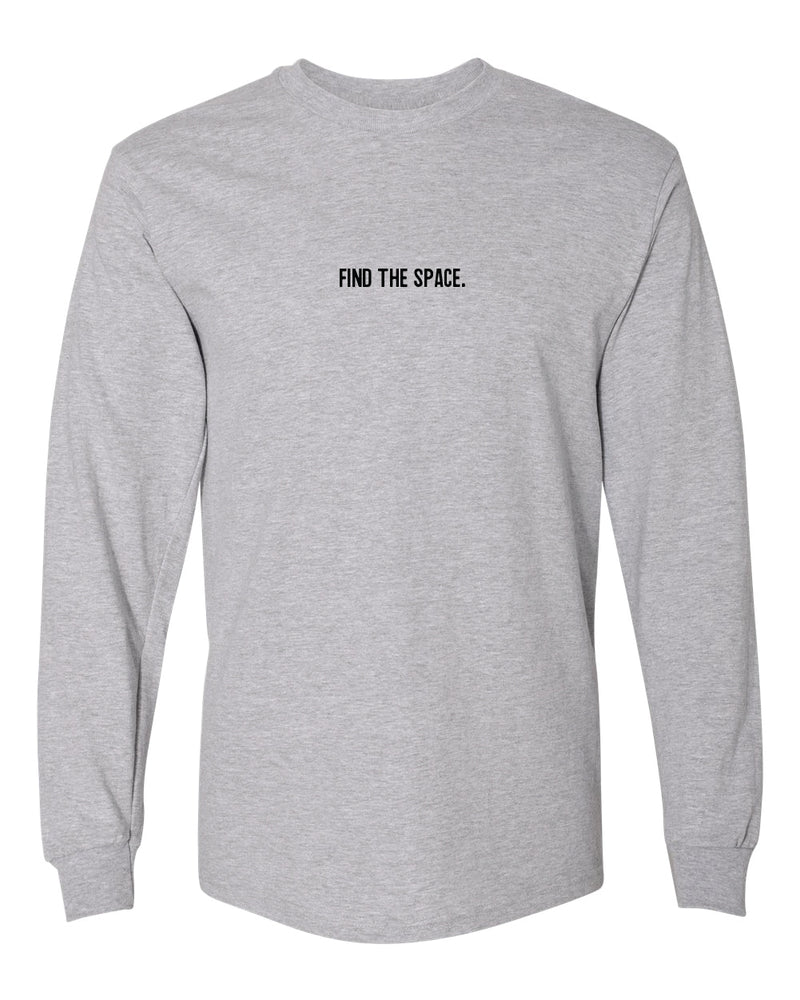 MIDFLD Find The Space & Unite Long Sleeve T-Shirt - Grey