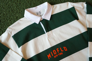 MIDFLD New York Striped Rugby - Forest/Natural