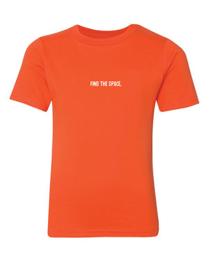 MIDFLD Find The Space & Unite Youth T-Shirt - Orange