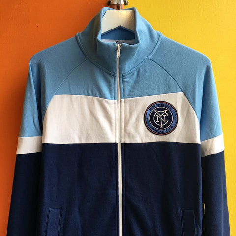 Mitchell & Ness NYCFC Color Blocked French Terry Jacket