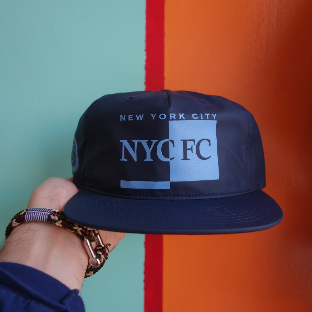 Mitchell & Ness New York City FC Rainy Day Pinch Panel Strapback Hat