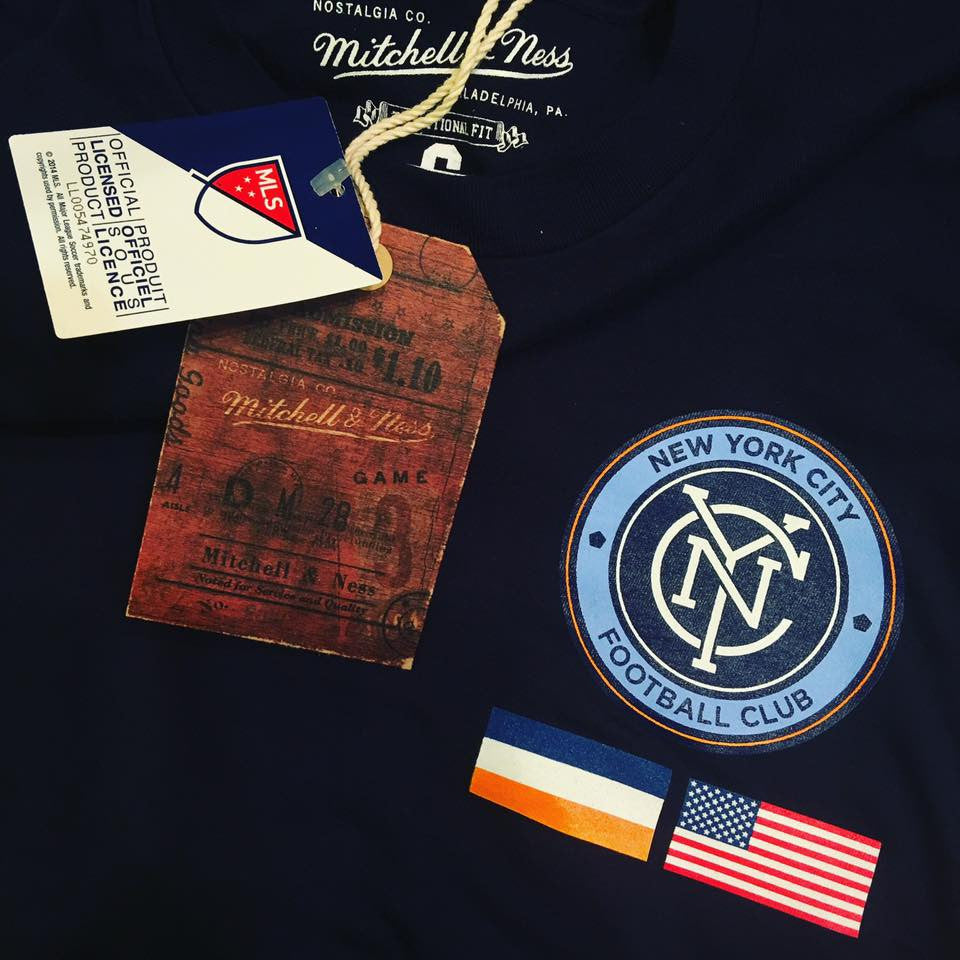 Mitchell & Ness NYCFC Cornerkick Long Sleeve Tee