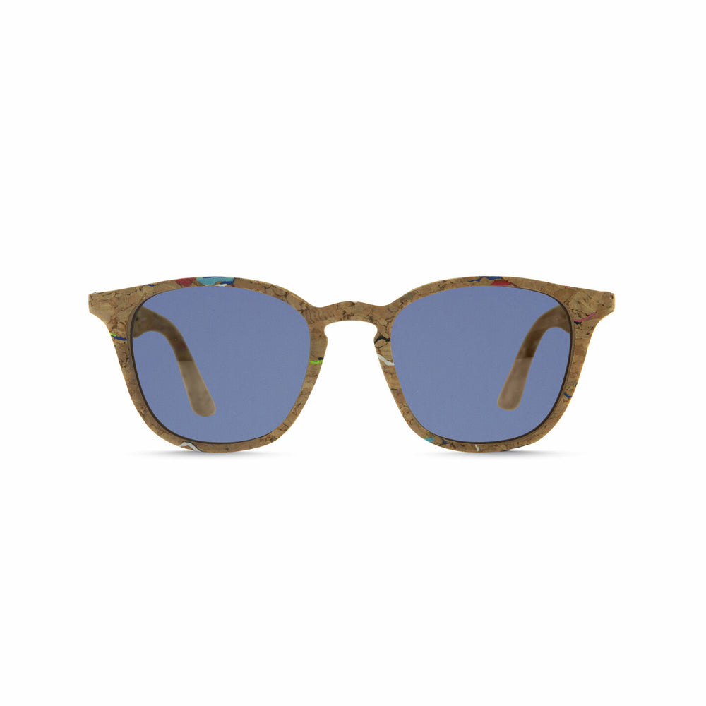 Parafina Niebla Sunglasses - Painted Cork/Parafina Blue
