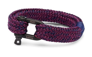 PIG & HEN - Gorgeous George Rope Bracelet - Navy/Purple-Black