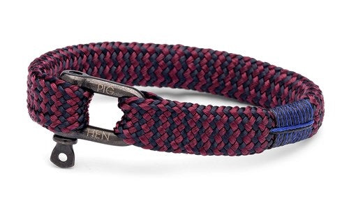 PIG & HEN - Sharp Simon Rope Bracelet - Navy/Purple-Black