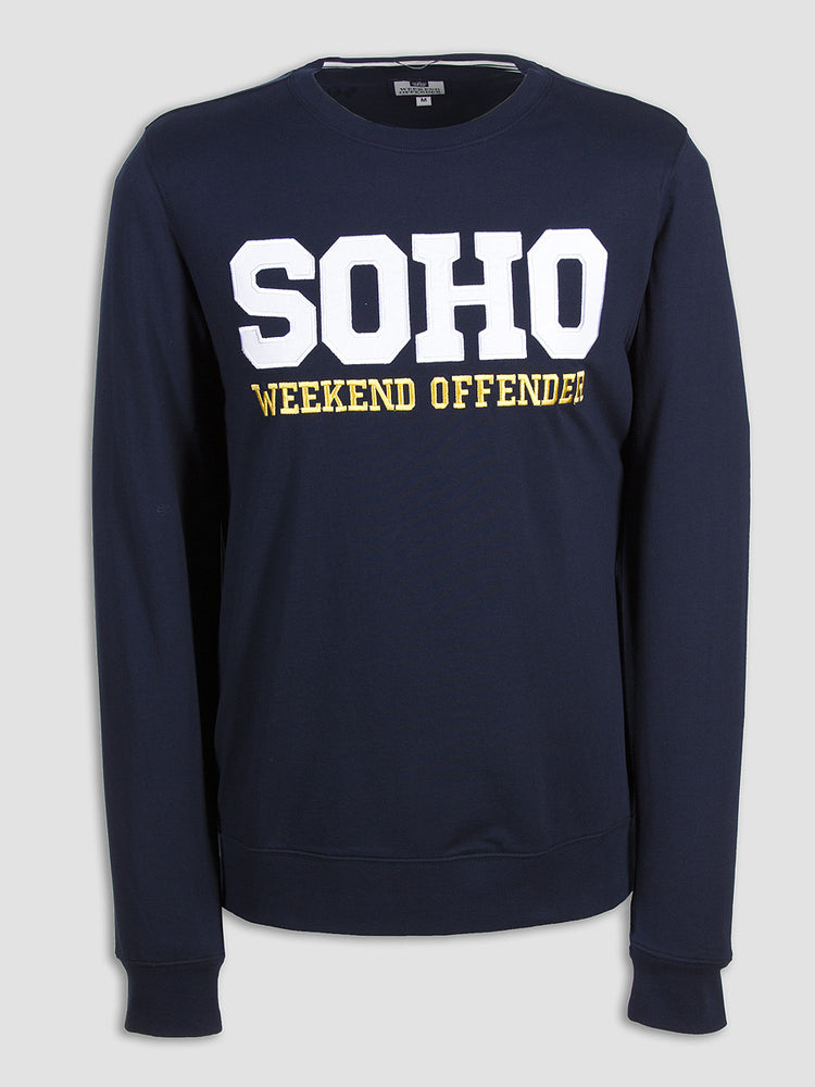 Weekend Offender Soho Crewneck - Navy